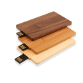 Custom Logo Wooden Card  Usb Flash Drive