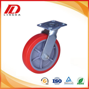 400Kg heavy duty industrial casters with pu wheels