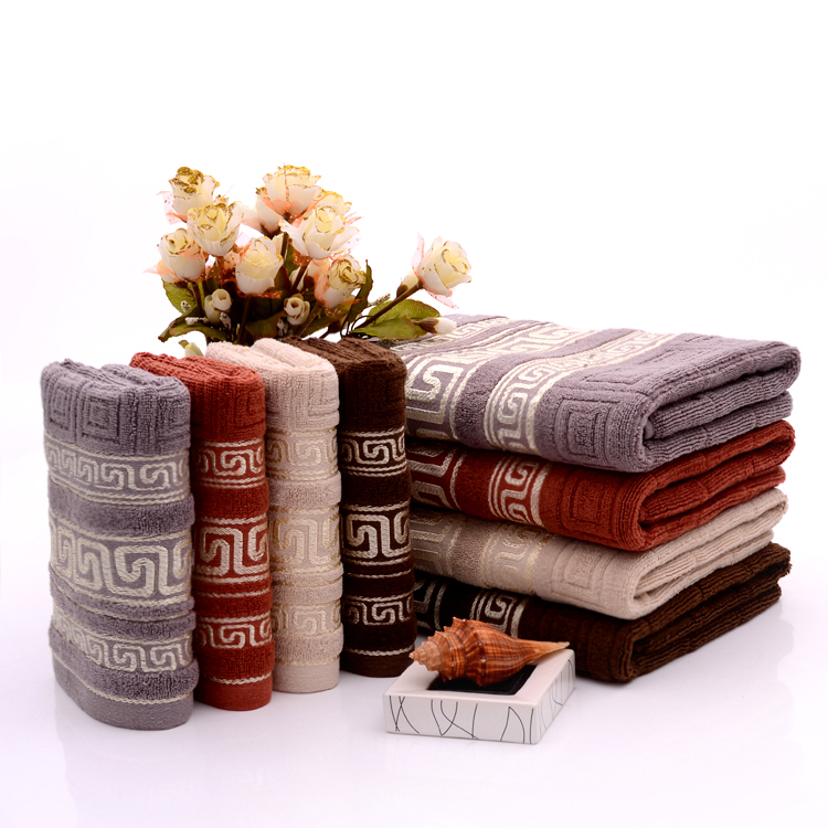 Homocentric Squares Embossed Towels