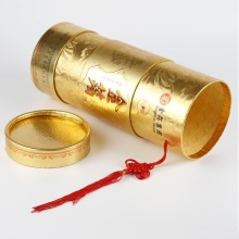 Luxury Custom Gold Round Wine Tube Gift Box