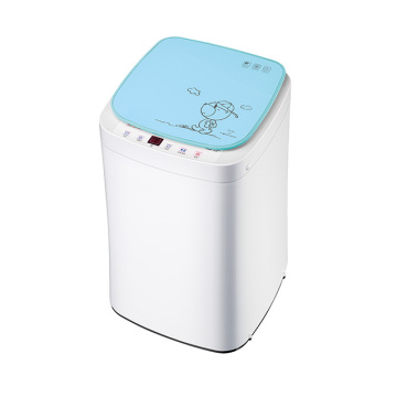 Blue Glass Cover 3KG Mini Fully Automatic Washing Machine