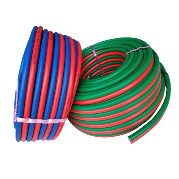 Flame resistance twin welding hose