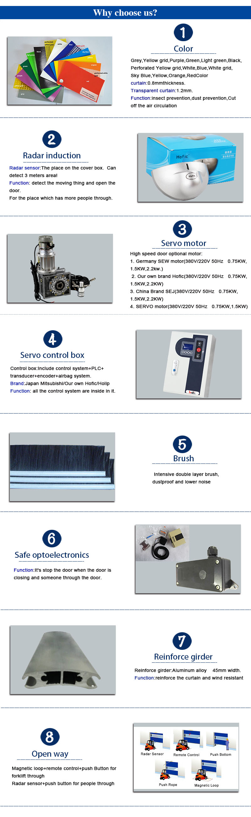 High Speed Roller Shutter main accessories