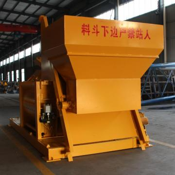Self loading JS twin shaft concrete mixer Indonesia