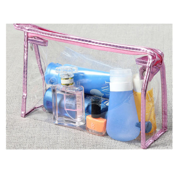 Transparent cosmetic bag with large portable capacity