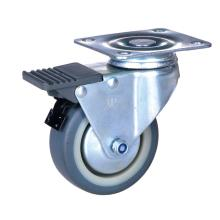 Factory supplied for Pp Wheel Caster 2 inch plate caster with lock TPE wheel supply to Canada Suppliers