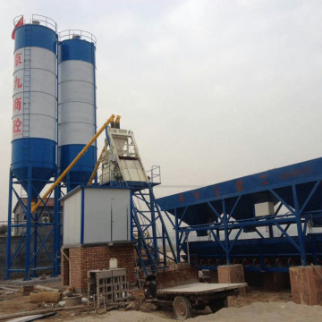 Precast HZS25 stationary concrete batching plant for sale
