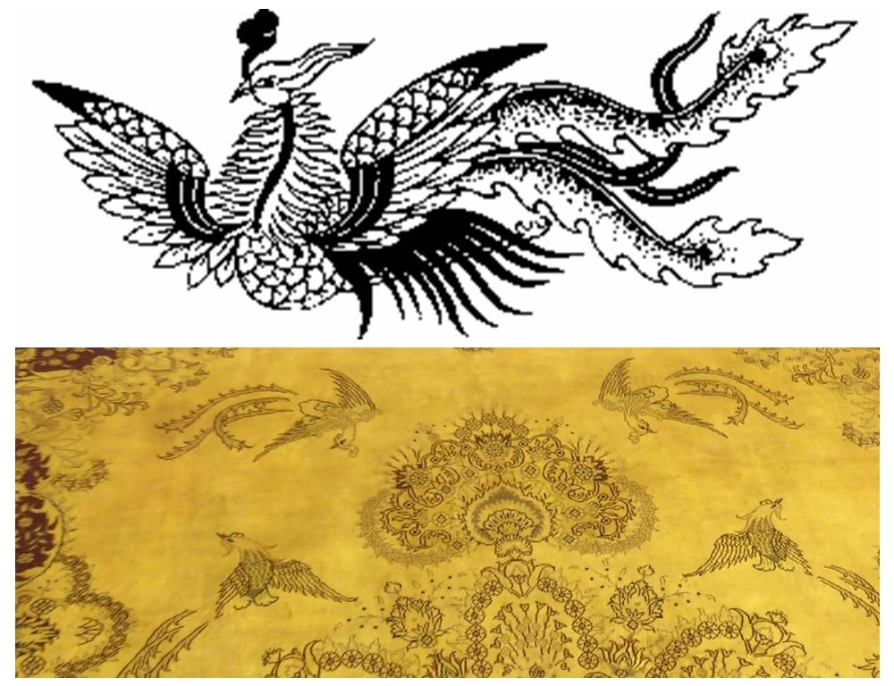phoenix design Chinese rug