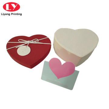 Heart shape paper gift box for chocolate packing
