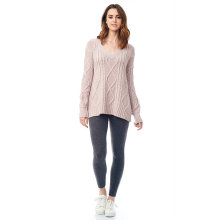 Europe style for Women'S Cashmere Sweaters,Warm Cashmere Sweater,Oversized Cashmere Sweater Manufacturer in China The Oversized Cable export to Mayotte Manufacturers