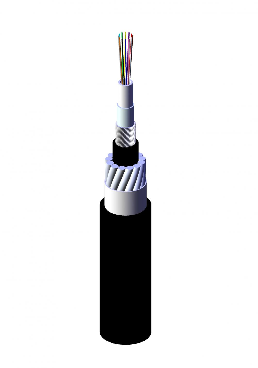 Tunnel SWA fire-resistant Uni-Loose Tube Fiber Optic Cable