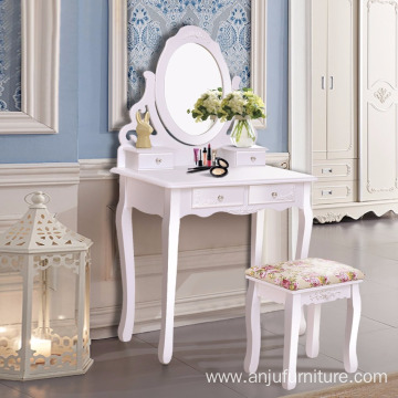 China for Drawers Dresser OEM makeup desk dressing table set supply to Saint Lucia Wholesale