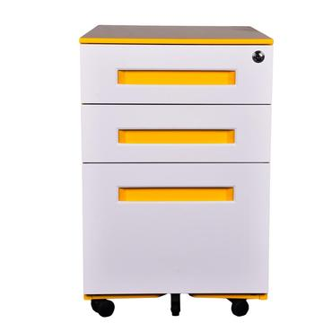 Colorful Office Equipment 3 Drawer Mobile Pedestal