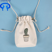 Simple drawstring small fresh canvas bag