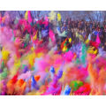 Girls scouts charity color war Holi color powder