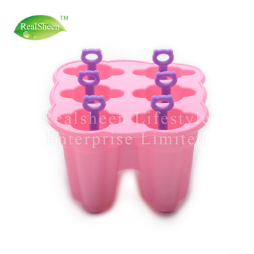 6 Piece Silicone Popsicle Molds With Sticks