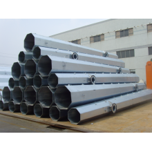 China OEM for Transmission Line Poles 132kV Steel Tubular Pole supply to Mozambique Factory