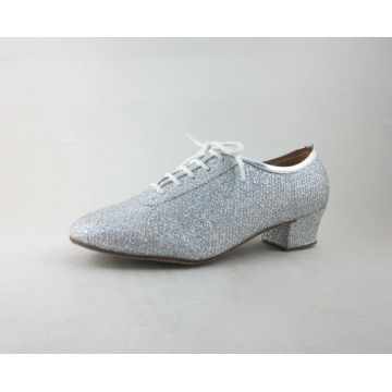 Silver  practice dance shoes