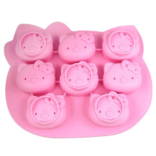 Factory Promotional for Silicone Cupcake Molds 8 Faces Pink Novelty Silicone Icing Molds supply to Monaco Exporter