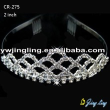 Silver Rhinestone Cheap Crystal Tiaras CR-275