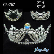 Rhinestone Full Round Pageant Crown For Sale