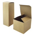 Custom small brown kraft gift paper box