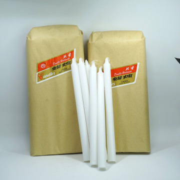 White sticks household paraffin wax candle