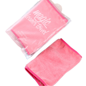 Pink Cheap Face Cloth Bulk Makeup Remover Towels