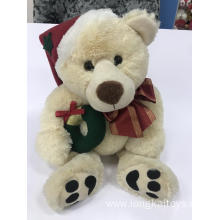 Plush Teddy Bear Creamy Christmas