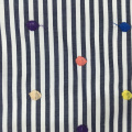 Colorful Dot Design Embroidery On Poly Cotton Fabric