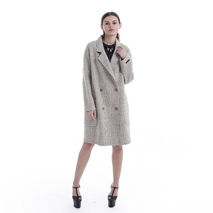 Winter fashionable cashmere overcoat