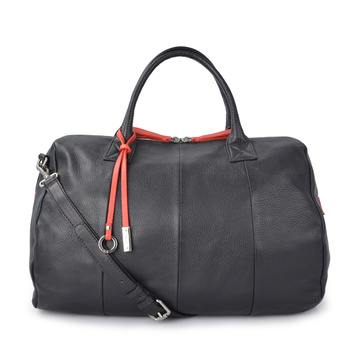 Zipper Leather Weekender Bag Carryon Bag Unisex