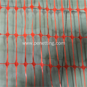 HDPE orange barrier fencing safety netting