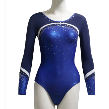 Adat Royal Blue Leotards Kanggo Gymnastics