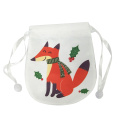 Mini cute christmas candy bag with fox pattern