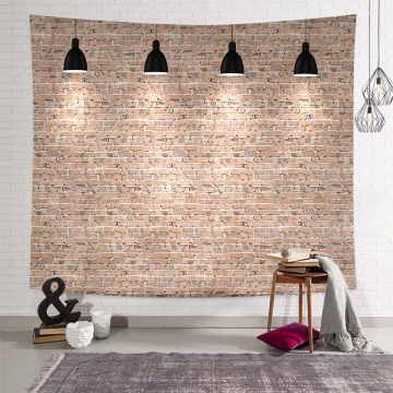 Light Brick Tapestry Wall Hanging Retro Yellow Stone Wall Tapestry for Livingroom Bedroom Dorm Home Decor