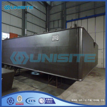 steel floating boat pontoon for marine construction