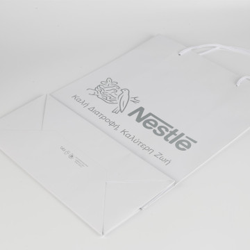 Custom Small Branded White Paper Carry Bags