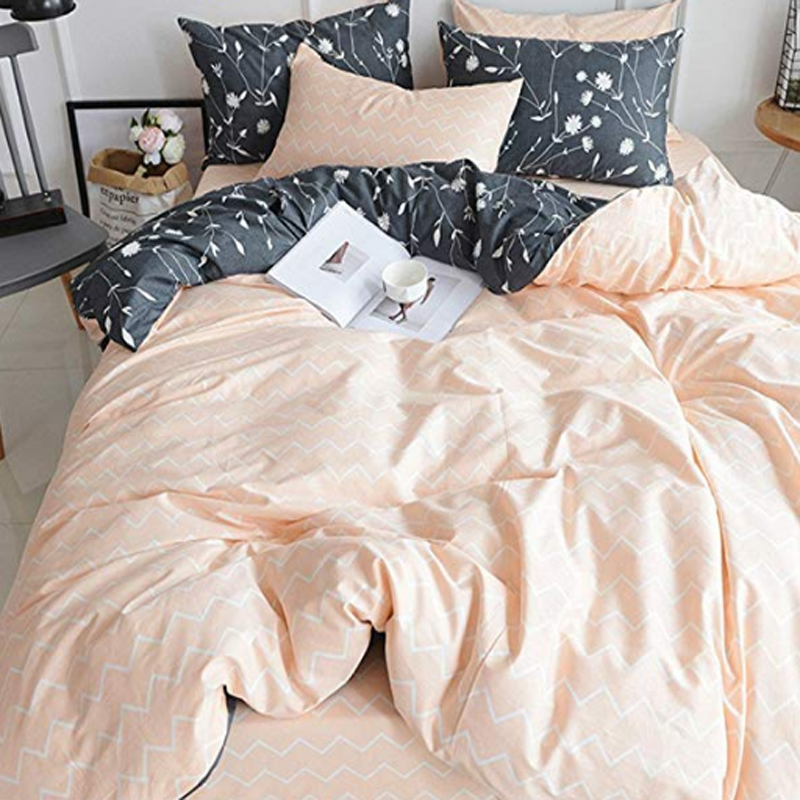 Reversible Cotton Percale Printed Duvet Covers