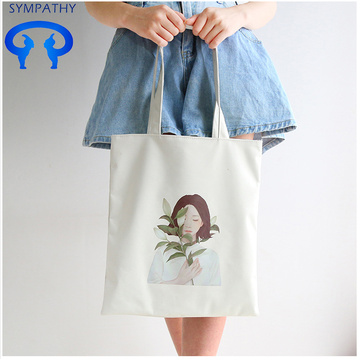 Custom single shoulder  art cloth bag