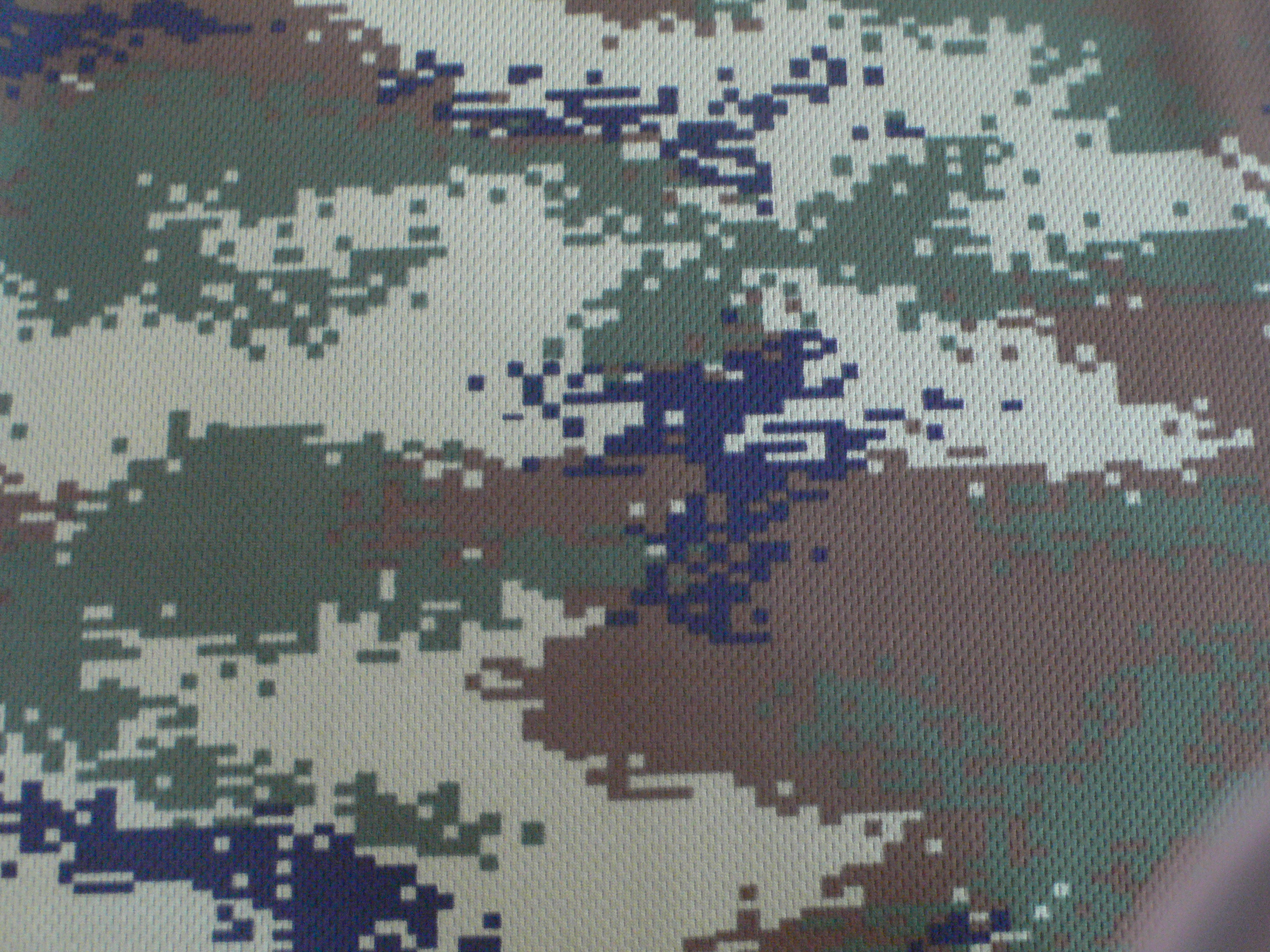Knitting Camouflage Polyester Fabric for T-shirt with Good Water Absorption