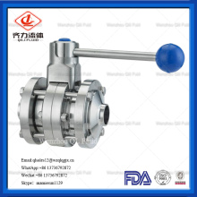 304/316 Stainless Steel Sanitary Heavy Type Welded Butterfly Valve