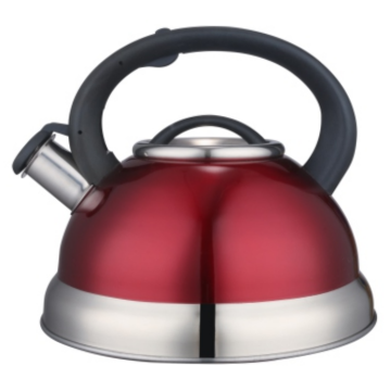3.5L Stainless Steel  whistling Teakettle red color