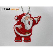 Reflective PVC Leather Smile Santa Claus Pendant