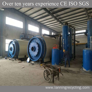 Pyrolysis plant plastic waste to oil