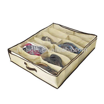 Non-woven Fabric Shoes Storage Bags ZipperedShoes Organizer Box 12 Pairs