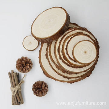 Professional for Wood Serving Tray Unfinished DIY Crafts Printing Smooth Natural pine Wood Slices Tags with Tree Bark export to Bangladesh Wholesale