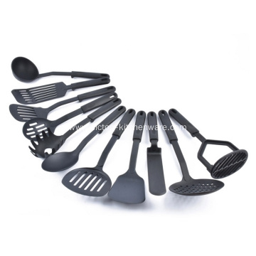 Black color handle nylon kitchen cooking tools
