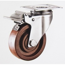 280℃ high temperature caster wheels stainless bracket