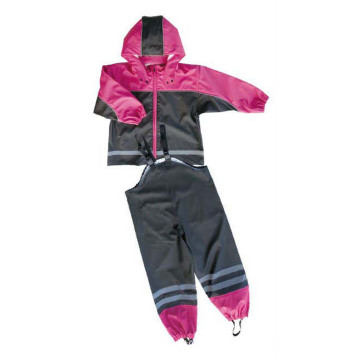 Factory directly provided for PU Raincoat, PU Rain Jacket, Police Raincoat, Children PU Raincoat Manufacturers and Suppliers in China Children PU Waterproof Rain Suit supply to United States Manufacturers